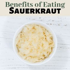 Did you know there are numerous benefits of eating sauerkraut? It helps with a better immune system, improved digestion, lowering cholesterol, may promote weight loss, and it has anti-carcinogenic properties. #fermentedfoods