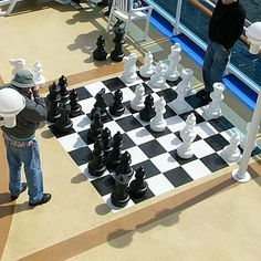 These 25 inch tall Giant Chess sets are great for schools, resorts, campgrounds, cruise ships and hotels - or your own backyard! Even if you don't play chess, these make great decorations. Made of a all-weather plastic suited for indoor or outdoor use, the chess pieces are light-weight, sturdy, and easy to move. If additional weight is desired, each piece can be filled with gravel. We recomend creating an indoor chess board using standard floor tiles or carpet squares. An outdoor board is…