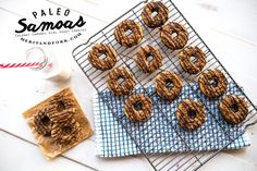 For this week's guest post, Merit + Fork join us to share their recipe for Paleo Samoas! Use carob instead of chocolate for AIP