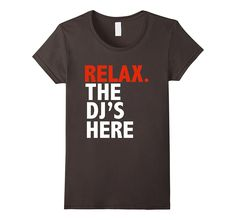 View Sizing Chart & Product Details - 100% Cotton - Imported - Machine wash cold with like colors.. dry low heat - Ideal t-shirt for all the awesome djs out there such as wedding djs.. club djs.. radi