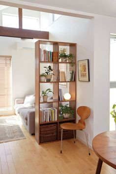 33 ideas for DIY pallet racks - 33 interior & furniture . - 33 ideas for DIY pallet racks – 33 interior & furniture # pallet rack - Room Decor Bedroom, Living Room Decor, Living Spaces, Small Apartment Living, Small Living Dining, Living Room Nook, Bookshelf Living Room, Room Divider Ideas Bedroom, Small Apartment Furniture