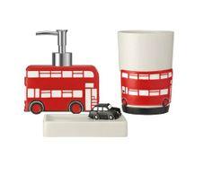 Venesa Double Decker Bus Collection Bath Ensemble 3 Pieces Bathroom Accessories Set