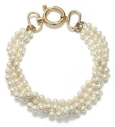 Fallon Jewelry Twisted Triple Pearl Necklace