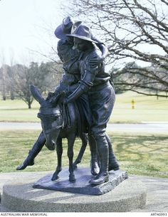 "Simpson and his donkey, 1915 by Peter Corlett, Australian War Memorial. John ""Jack"" Simpson Kirkpatrick (1892 – 19 May 1915), served under the name John Simpson, was a stretcher bearer with the ANZACs during the Gallipoli Campaign in World War I. After landing at Anzac Cove on 25 April 1915, he obtained a donkey and began carrying wounded British Empire soldiers from the frontline to the beach, for evacuation. He continued this work for 3 and a half weeks, often under fire, until he was…"