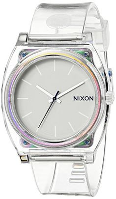 Now in stock Nixon Time Teller P Translucent Dial Translucent Polyurethane Ladies Watch A1191779