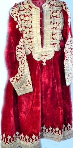 Silk velvet with gold embroidery dress from Afghanistan circa 1900-1915 (inventory for sale info@singkiang.com)
