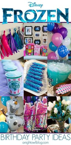 So many great and easy Disney Frozen Birthday Party Ideas!