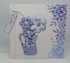 Created using Toile collection with templates and die cut flowers, design by Julie Hickey Craftwork Cards, Hobbies And Crafts, Thank You Cards, Card Making, Templates, Create, How To Make, Collections, Inspiration