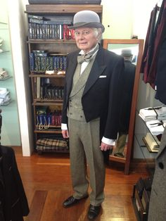 Mr Fullerton, 1 of our very best customers! Head to toe ;-) #bespoke #dapper #gentleman
