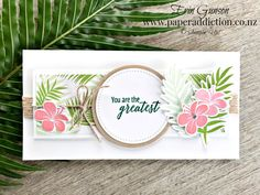 Easy Tropical Chic card. Stampin Up Demonstrator NZ, Erin Gunson as Paper Addiction