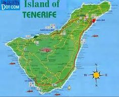 Tenerife, Islas, Canarias, España One of the most beautiful countries in the world! Ibiza, Cruise Excursions, Island Map, City Maps, Travel Maps, Canary Islands, Spain Travel, Countries Of The World, Travel Around The World