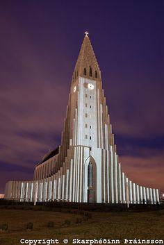 Hallgrimskirkja in Reykjavik, Iceland, by Skarphedinn Thrainsson