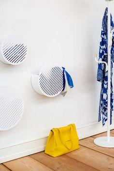 Large White Diagonal Wall Basket by Andreasson & Leibel for Swedish Ninja, 2017 for sale at Pamono Wall Basket Storage, Baskets On Wall, Swedish Interiors, Scandinavian Interior, Moving To Australia, Swedish Design, Decorative Storage, Wooden Crates, Elle Decor