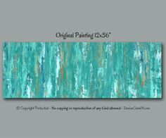 Teal abstract original canvas painting, Teal Shabby Chic home decor, Teal painting, Turquoise Teal wall art, Taupe brown and turquoise art