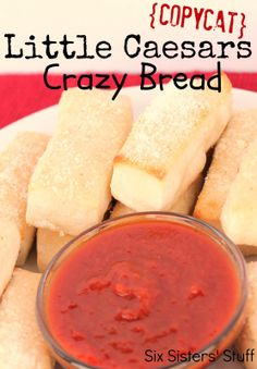 Copycat Little Caesars Crazy Bread from SixSistersStuff.com.  Only a few ingredients for this tasty side dish! #recipes #copycat #breadsticks