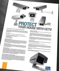 Brochure Page Layout Design - CCTV Feature
