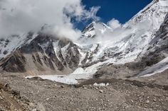 Everest Base Camp in Nepal. It takes 8 days of trekking through the Himalayas to get here but it is an awesome site to see. One of the great adventures of a lifetime!