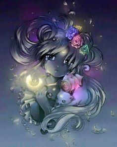 Sailor Moon, Luna, and Artemis