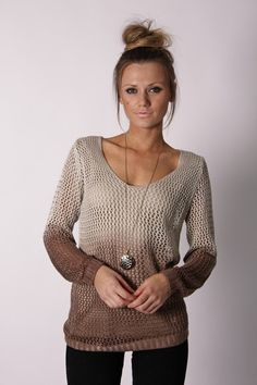 ombre knit sweater. my-style