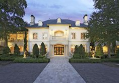 Stunning French Renaissance Estate in prestigious gated Carlton Woods.