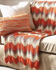 GREAT crochet pattern. I'm almost done with mine. I used beige and tan in big foot-wide stripes. It's awesome.