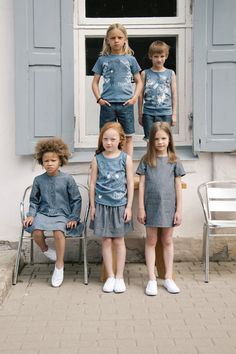 'Double trouble' collection for SS15 by Hebe #Hebe #organic #denim #kidswear