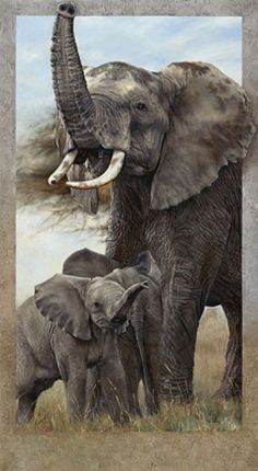 African Elephant Family - Sculpture Art by Val Warner - Nature Art & Wildlife Art - Wildlife Art, radiant, detailed, photorealistic and awesome - Warner Art Elephant Family, Elephant Love, Elephant Art, Elephant Tattoos, African Elephant, African Animals, Wildlife Paintings, Wildlife Art, Animal Paintings