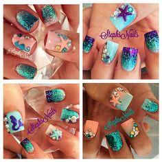 Mermaid nails....@_stephsnails_