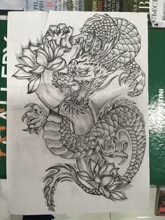 (notitle) - Tattoo ideen - dragon tattoo for women Japanese Dragon Tattoos, Japanese Tattoo Art, Japanese Tattoo Designs, Chinese Tattoos, Arabic Tattoos, Celtic Tattoos, Dragon Tattoo Drawing, Dragons Tattoo, Chinese Dragon Drawing