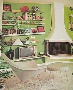 1968 MID CENTURY MODERN Mod Decorating book