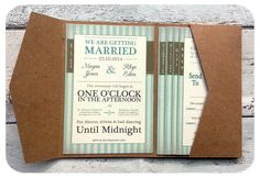 folded wedding invitation - Google Search