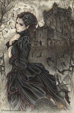 Victorian Vampire art- Victoria Frances