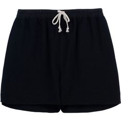 Rick Owens Shorts (900 BRL) ❤ liked on Polyvore featuring shorts, bottoms, pants, short, black, high-waisted shorts, highwaist shorts, rick owens shorts, high rise shorts and high waisted shorts