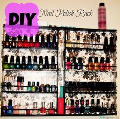 DIY Nail Polish Rack {guest tutorial} | So You Think You're CraftySo You Think You're Crafty