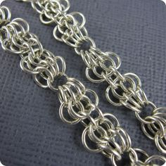 Sterling silver bracelet chain mail  Butterfly  by janehamill, £65.00