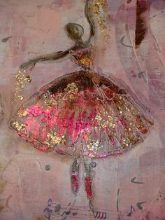 painting with alcohol ink Mixed Media Canvas, Mixed Media Art, Art Ballet, Ballerina Art, Ballerina Painting, Art Du Collage, Arte Pop, Art And Illustration, Illustrations
