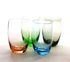 Harlequin Bohemia Glass Set x 4 - Four Bohemia Glass Tumblers - etsy