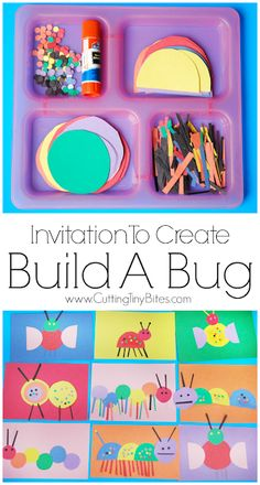 Fine Motor Insect Craft For KidsInvitation To Create: Build A Bug. Open ended creative insect paper craft for kids. Great for color recognition & fine motor development. Perfect for toddlers and preschoolers.