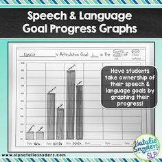 FREE goal progress monitoring graphs for any speech and language goal! from Natalie Snyders SLP. Pinned by SOS Inc. Resources. Follow all our boards at pinterest.com/sostherapy/ for therapy resources.