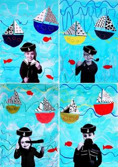 DIY Maritime Party Ô Capitaine mon Capitaine mar. 2017. Lovely DIY Maritime Party with props and Cute Boat Craft.