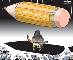 In memory of the five political cartoonists killed in the attack on Charlie Hebdo: Cabu, Wolinski, Charb, Tignous and Honoré - The Globe and Mail The New Yorker, Satire, Muslim Religion, Charlie Hebdo, Expressions, Freedom Of Speech, Political Cartoons, Peace And Love, Graham