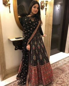 ce18b45543 Zaira Wasim, Lehenga Designs, Gharara Designs, Indian Ethnic Wear, Indian  Outfits,