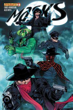Dynamite® Masks (Of Comic Book Characters, Comic Book Heroes, Comic Character, Comic Books Art, Comic Art, Character Design, Live Action, Star Trek, Green Hornet