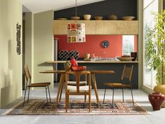 I think we'll be using Garden Sage in our office/ dinning room! HGTV® HOME by Sherwin-Williams - Global Spice - Garden Sage (SW Sealskin (SW Peppery (SW Wood Refinishing, Glass Front Cabinets, Saag, Kitchen Paint Colors, Open Concept Kitchen, Farmhouse Style Kitchen, Rustic Table, Kitchen Styling, Hgtv