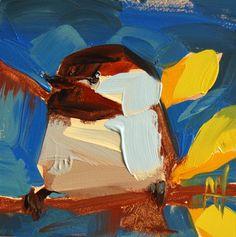 Chickadee no. 729 Painting
