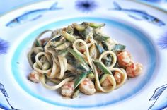 Pasta with zucchini and shrimps at Il Riccio Restaurant, Anacapri, Italy