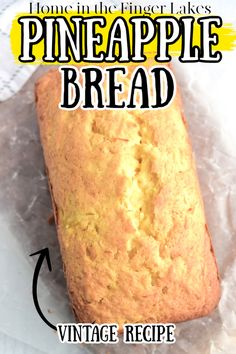 An ultra flavorful & moist pineapple quick bread recipe that's easy to make. Canned Pineapple gives this bread a sweet tangy flavor that you will love. Artisan Bread Recipes, Quick Bread Recipes, Sweet Recipes, Fruit Bread, Dessert Bread, Fruit Pie, Diabetic Cake Recipes, Diabetic Bread, Pineapple Recipes Healthy