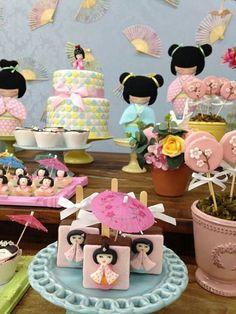 Kokeshi birthday party theme (pmw re-pinned 8-15-16)