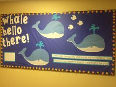 Whale Hello There welcome bulletin board #ra