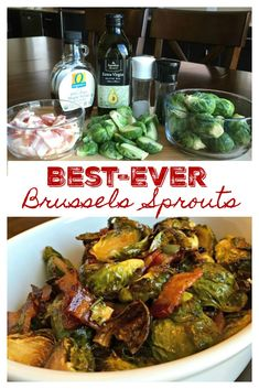 BEST-EVER BRUSSELS SPROUTS - MAPLE ROASTED BRUSSELS SPROUTS WITH BACON - These really should be called 'Veggie Crack' because they are so addictive, so darn good. Hands down, the best Brussels sprouts I've ever had. To-Die-For!! A cinch to make too. #BrusselsSprouts #Roasted #Maple #Bacon #Best #Recipe #SideDish #Vegetable #Thanksgiving #Fall #SweetLittleBluebird